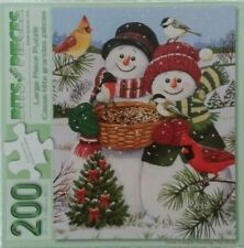 Snow Couple Feeding The Birds-by Bits and Pieces-200 Large Piece Puzzle-NICE