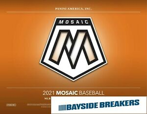 Boston Red Sox 2021 Panini Mosaic Baseball Half Case (6 Box) Break #1