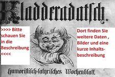 1924 1925 1931 1932 1934 1935 1936 1937 1938 Kladderadatsch Satire Zeitschrift