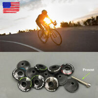 "TOOK Mountain/Road Bicycle Top Cap 3K Carbon Fiber 1-1/8""Threadless Ultralight"