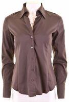 ESPRIT Womens Shirt UK 10 Small Brown Cotton  KH10