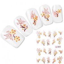 Tattoo Nail Art Aufkleber Japan Kirschblüten Schmetterling Nagel Sticker Neu!