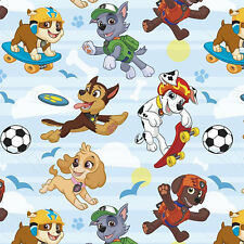 Paw Patrol Pup Park Fleece Print Fleece Fabric by the Yard