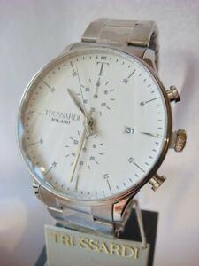 New TRUSSARDI T Complicity  Chronograph Men's Watch Stainless Steel R2473630003