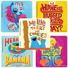 """25 Sesame Street Quotes Stickers, 2.5""""x2.5"""" ea., Party Favors"""