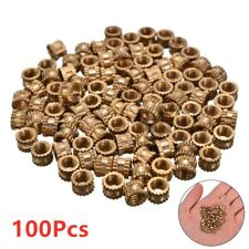 100Pcs M3 Brass Insert Nut Injection Molding Brass Knurled Thread Inserts Nuts