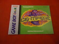 Centipede Nintendo Game Boy Color Instruction Manual Booklet Only