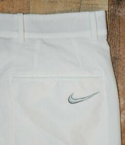 Nike Dri-Fit Flex Hybrid Golf Pants Mens 30x27 White Stretch 921751 EUC B75