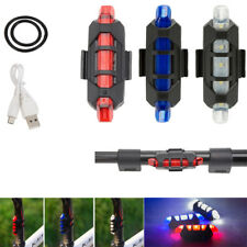 USB Rechargeable Bike Bicycle Tail Rear Warning Light 3 Modes Super Bright Lamp