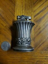 WORKING Vintage Ronson Newport Art Deco Silver Plated Table Top Lighter