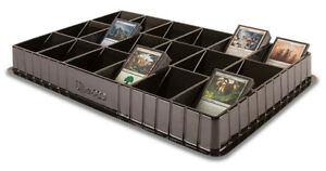 ULTRA PRO BLACK Trading Card Sorting Storage Sorter Tray 18 Slots Compartments