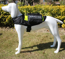 SERVICE DOG BACKPACK Harness vest Saddle Bags with Removable 2 label Patches