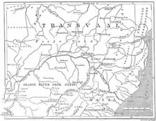SOUTH AFRICA. Map of the Transvaal and adjacent provinces, 1881