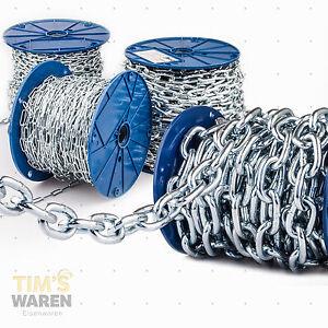 Stahlkette verzinkt Rundstahlkette Eisenkette kurzgliedrig DIN 5685-A