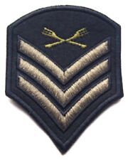Sergeant Stripes Patch Embroidered Sew Iron On Military Army Cavalry