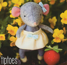 TIPTOES - Sewing Craft PATTERN - Soft Toy Felt Doll Mouse Ballerina