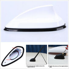 New White Shark Fin Style Car Roof Aerial FM AM Radio Signal Replacement Antenna