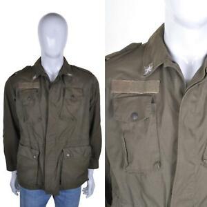 VINTAGE Military Surplus Army Jacket M Khaki Green Coat Overshirt Shirt