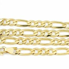 "10k Yellow Gold Figaro Chain Necklace 18""(new, 15.4g)#2481b"
