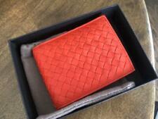 Bottega Veneta Men's 148324 Orange Nappa Leather w/coin purse Wallet $490