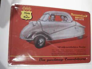 REF 044 Cartel Placa Metal 20X30CM 150gr - Messerschmitt KR200  cochesaescala