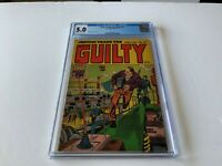 JUSTICE TRAPS THE GUILTY 51 CGC 5.0 ELECTRONICS LAB PRE CODE PRIZE COMICS 1953