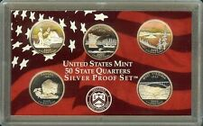 "2005-S   STATE QUARTERS COMMEMORATIVE ""S-PROOF""  90% SILVER Set, US Mint Case"