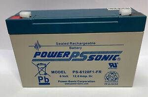 PS-6120 Power-Sonic 6v 12Ah PS6120 Rechargeable Sealed Lead Acid 6 V Battery
