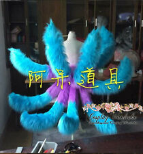 League of Legends Arcade Ahri Cosplay LOL Tails Sona Costume blue purple mixed
