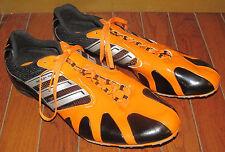 Adidas Adistar MD Track Spikes Sprinter Shoes Black & Orange 10 1/2 Size 10.5