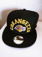 New Era 9Fifty RARE YELLOW LOS ANGELES SCRIPT Wool Cap NBA Lakers Snapback Hat