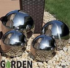 Set of 4 Stainless Steel Sphere Garden Mirror Gazing Globes Ball Stainless Steel