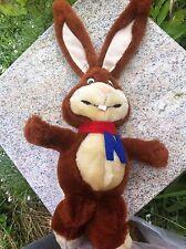 "Vintage Nestle Quik Nesquik Bunny Rabbit Stuffed Plush Toy Chocolate Milk 14"""