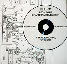 FLUKE Service Manual for 863 / 867B Graphical Multimeter  Full size schematics