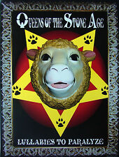 QUEENS OF THE STONE AGE Lullabies To Paralyze PROMO Poster JOSH HOMME New RARE