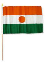 """12x18 12""""x18"""" Niger Stick Flag wood staff"""