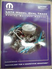 Mopar Late Model Oval Track Engine Buildup Manual 360 W2 P5007450 Small Block SB