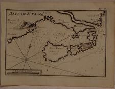 CARTE MARINE XVIII° SIECLE JOSEPH ROUX 1764  VALENCE SOFA ESPAGNE