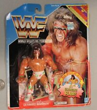 1990 WWF Ultimate Warrior Blue Card Hasbro. Included