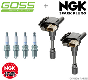 GOSS IGNITION COILS & NGK SPARK PLUGS - for Suzuki Swift 1.5L RS415 EZ (M15A)