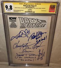 Back To The Future Blank CGC 9.8 5x Cast Signed Michael J Fox Comic + Four More