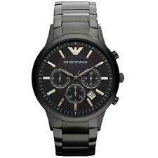 NEW EMPORIO ARMANI AR2453 GENUINE WITH CERTIFICATE MEN'S WATCH CHRONOGRAPH BLACK
