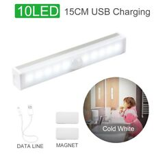 Wireless LED PIR Motion Sensor Light USB Rechargeable Strip Cabinet Closet Lamp