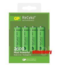 GP ReCyko+ 2600mAh AA Precharge NiMH Rechargeable Battery HR6 4pcs Green