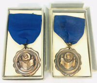 Vintage Dated 1939 & 1940 High School Spelling Bee Medals Awards Lowe & Campbell