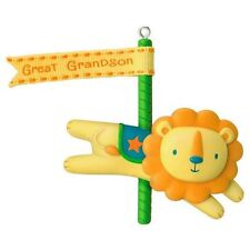 2016 Hallmark GREAT GRANDSON Carousel Lion with Banner NEW Ornament