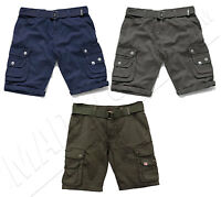 Scruffs Cargo Shorts With Belt Charcoal Grey/Navy/Khaki Men's Work Combat Trade