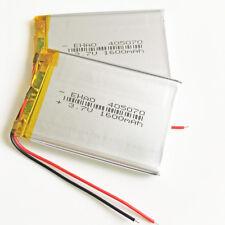 2 pcs 1600mAh 3.7V li po Rechargeable Battery 405070 For Camera Speaker GPS PSP