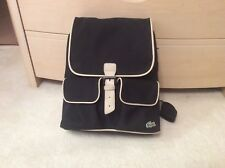 Genuine Lacoste Backpack In Black