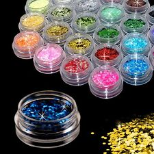 24 Sparkle Brillo Polvo Polvo Hexágono Arte en Uñas Decoración exclusivo de belleza Set